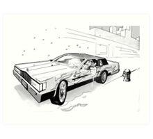 Brooklyn Cadillac Art Print