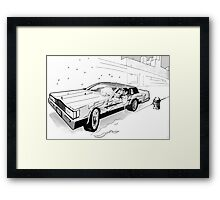 Brooklyn Cadillac Framed Print