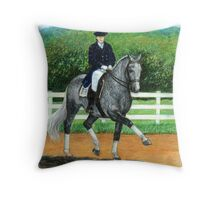 Belgian Warmblood Horse Portrait Throw Pillow