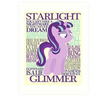 The Many Words of Starlight Glimmer Art Print