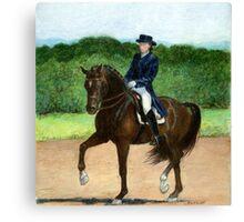 Dressage Horse Portrait Canvas Print
