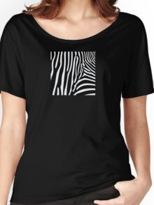 Zebra Print Women's Relaxed Fit T-Shirt