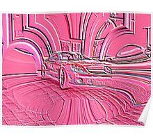 Pink Mercedes Benz Poster