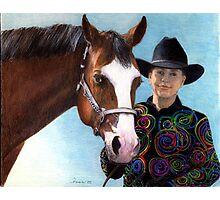 Quarter Horse Youth Halter Class Winner Portrait Photographic Print