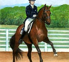 Hanoverian Dressage Horse Portrait by Oldetimemercan