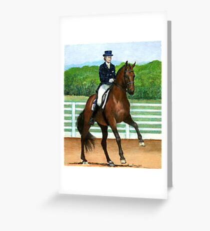 Hanoverian Dressage Horse Portrait Greeting Card