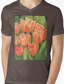 Citrus Tulips  Mens V-Neck T-Shirt