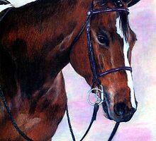 Quarter Horse Hunter Under Saddle Portrait by Oldetimemercan