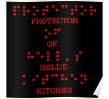 Protector of Hell's Kitchen (With Braille Text) Poster