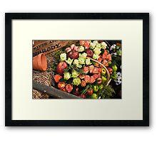 Apples & Roses Framed Print