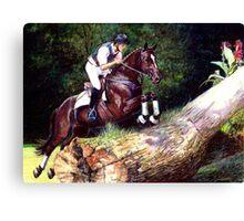 Trakehner Eventing Horse Portrait Canvas Print