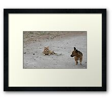 Pthtt!! Fred!!! You need a bath!!! Framed Print