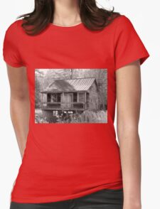 Old House At An Angle  Womens Fitted T-Shirt