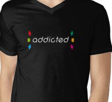 Amiibo 'addicted' shirt/drawstring bag/etc... Mens V-Neck T-Shirt