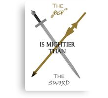 Pen&Sword Canvas Print