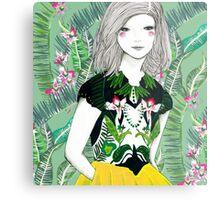Ferns and Fuschia Metal Print