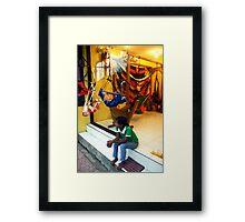 Hammock Shop, Ubud, Bali Framed Print