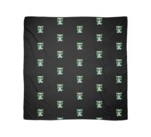 Nice Kitty - Black & Green Scarf