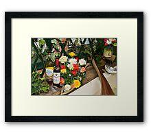 Roses & Wine Framed Print