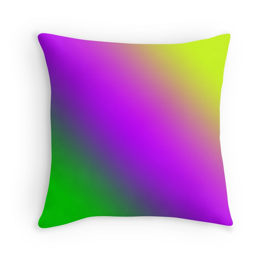 Purple And Lime Green Throw Pillows :