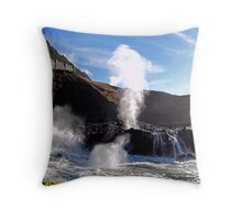 Spouting Horn Blow Hole  Throw Pillow