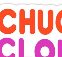 chucks clouds Sticker