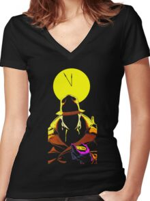 Who Watches the Watchm... Women's Fitted V-Neck T-Shirt