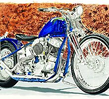 Panhead Blues by Ron Morgan