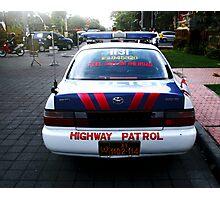 Police Car, Ubud, Bali Photographic Print