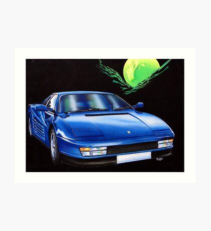 Tester Rossie in blue. Art Print