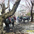 Horse Statues in Towada City, Japan by icesrun