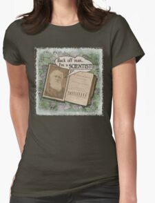 Popular Science: Charles Darwin 2 (distressed) Womens Fitted T-Shirt