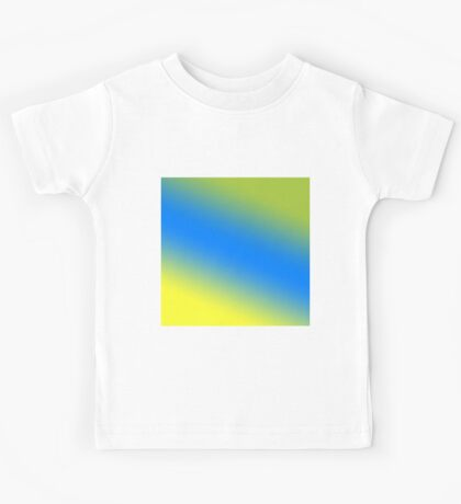 Beautiful Cushions/Ombre/ Daffodil Azure Android Green Kids Tee
