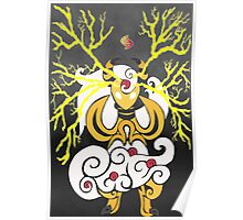 Tribalish Mega Ampharos - Eye of the Storm Poster