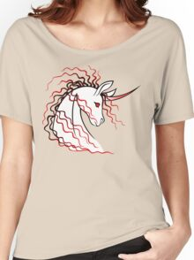 Ki-Rin (Japanese Unicorn) - Red Women's Relaxed Fit T-Shirt