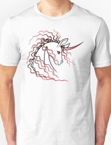 Ki-Rin (Japanese Unicorn) - Red Unisex T-Shirt