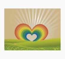 Rainbow Heart Keyhole Kids Clothes