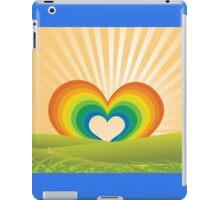 Rainbow Heart Keyhole iPad Case/Skin