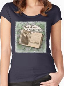 Popular Science: Charles Darwin (distressed) Women's Fitted Scoop T-Shirt
