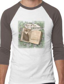 Popular Science: Charles Darwin (distressed) Men's Baseball ¾ T-Shirt