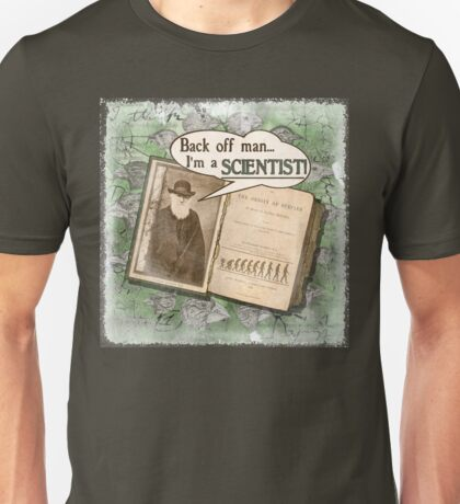 Popular Science: Charles Darwin (distressed) Unisex T-Shirt