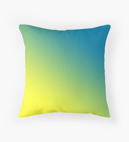 Beautiful Cushions/ Gradient Cerulean Daffodil Throw Pillow