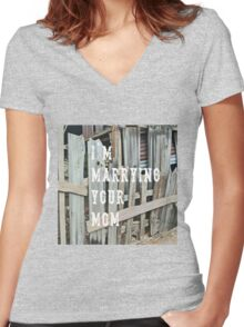 I'm Marrying Your Mom - imaginary band Women's Fitted V-Neck T-Shirt
