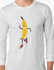 Awesome Running Banana Long Sleeve T-Shirt