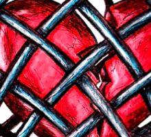 caged heart Sticker