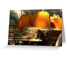 Wagon & Autumn Harvest Greeting Card