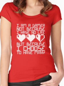 Many Lives Women's Fitted Scoop T-Shirt