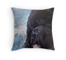 Portrait of a Newfoundland Dog Throw Pillow