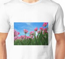 Pink Tulip Fields Unisex T-Shirt