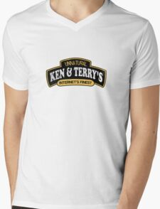 Ken and Terrys Mens V-Neck T-Shirt